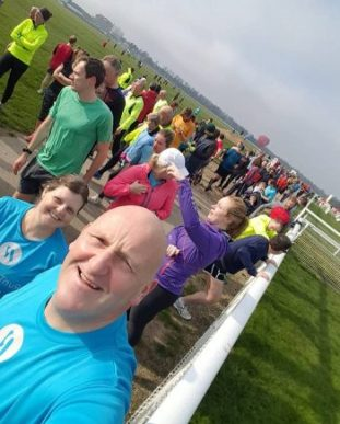 Ken & Jean at York Racecourse parkrun