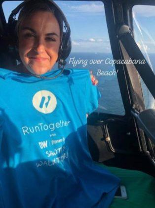 Lorna flying high in Brazil