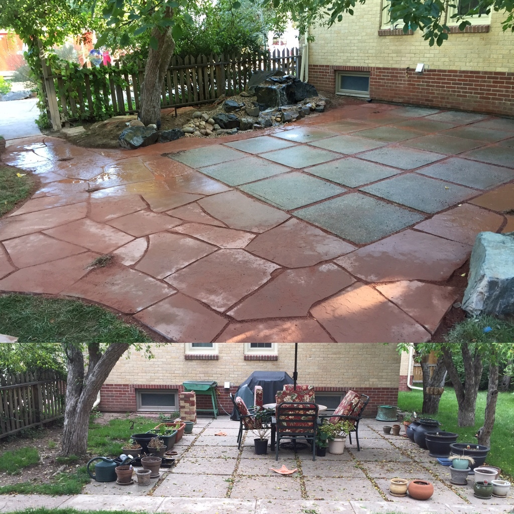 Arizona Red Flagstone Patio