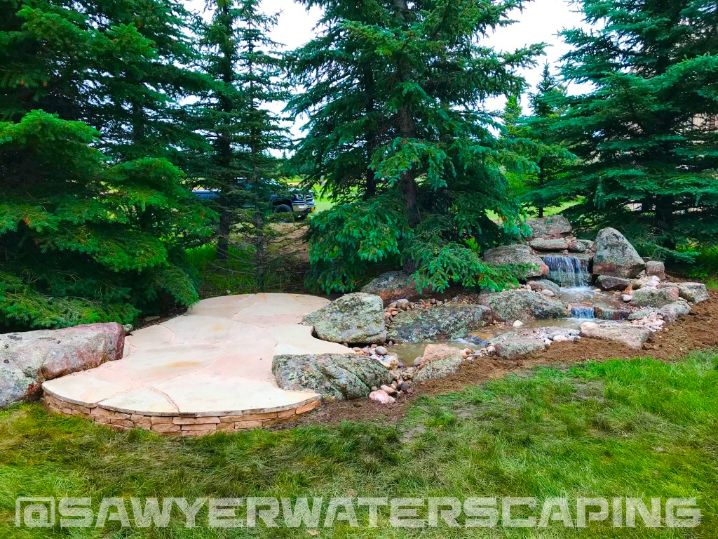 12' Pondless Waterfall with Natural Backdrop