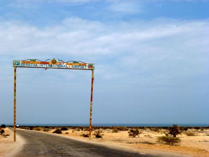 Entry to Berbera International Airport, Somaliland.