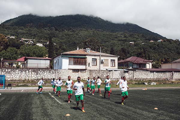 Somaliland team training in Abkhazia for the World Cup of Unrecognized States 2016. ©Max Avdeev