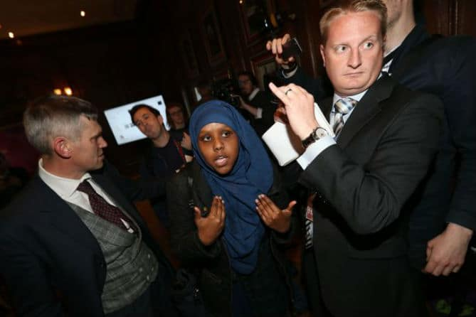 Muslim Woman From Somaliland Blasts Racist UKIP At Chaotic Election Campaign Launch As Protesters Storm The Building