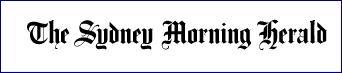 Sydney Morning Herald white logo