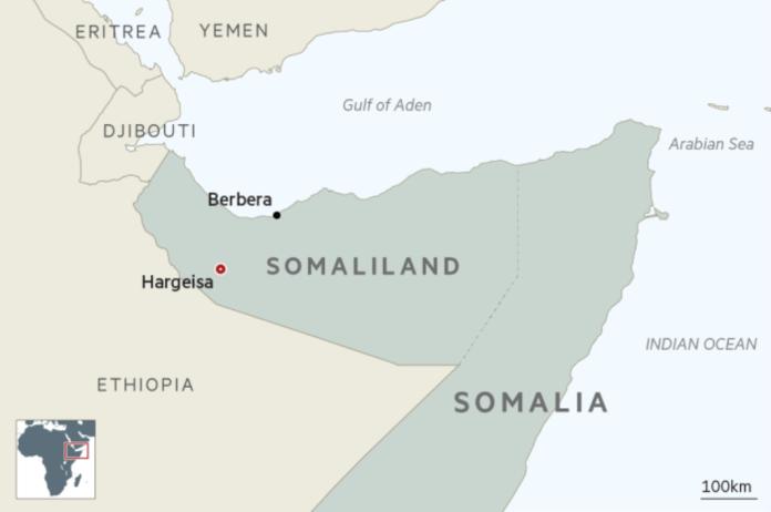 Somaliland and Somalia map