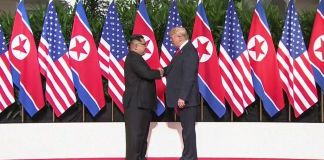 U.S.-North Korea Summit Begins With Trump-Kim Handshake
