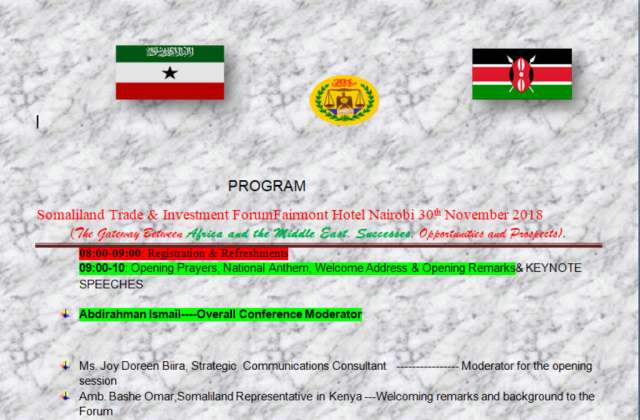 Somaliland Set To Host Investment Forum In Nairobi