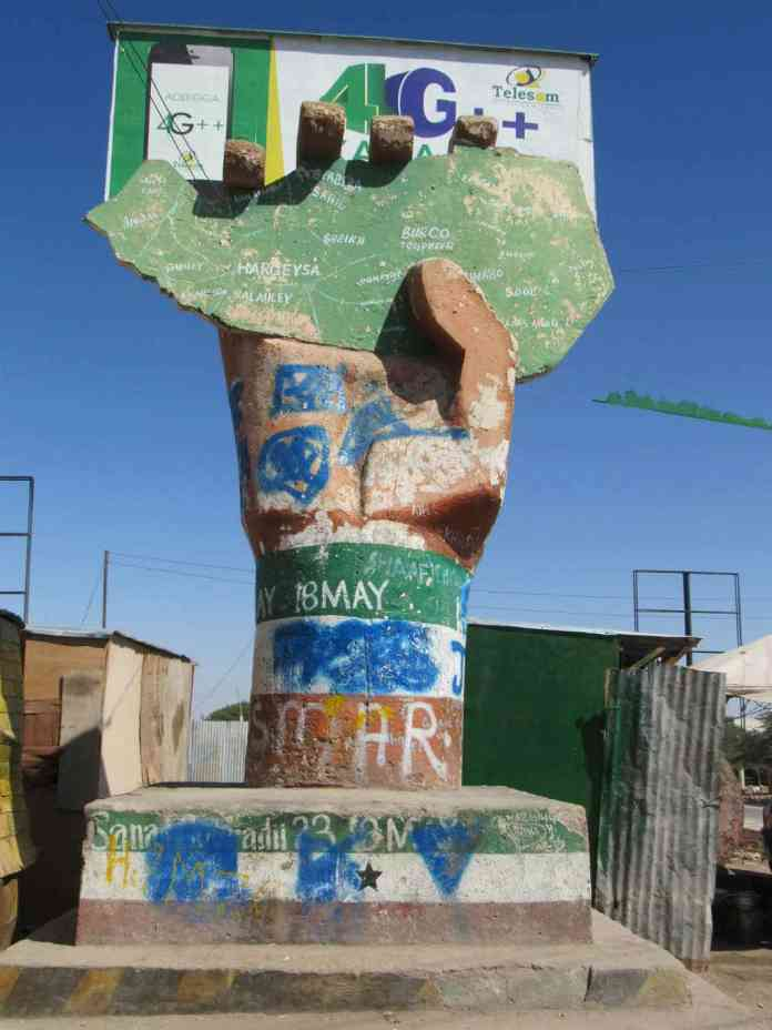 Independence monument in Hargeisa