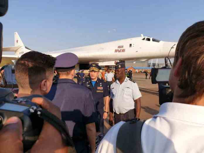 Two Russian Tu-160 Blackjack bombers touched down today at South African Air Force Base Waterkloof in the country's capital Pretoria, marking the first time these bombers have made a visit to anywhere in Africa.