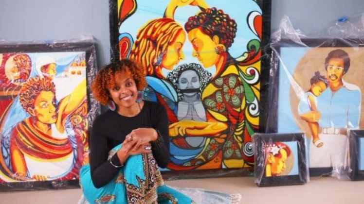 Ebony Iman Dallas Uses Art To Tell Stories Of Underrepresented People
