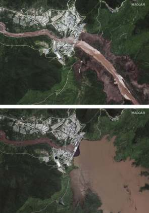 Satellite Images Taken From The Grand Ethiopian Renaissance Dam