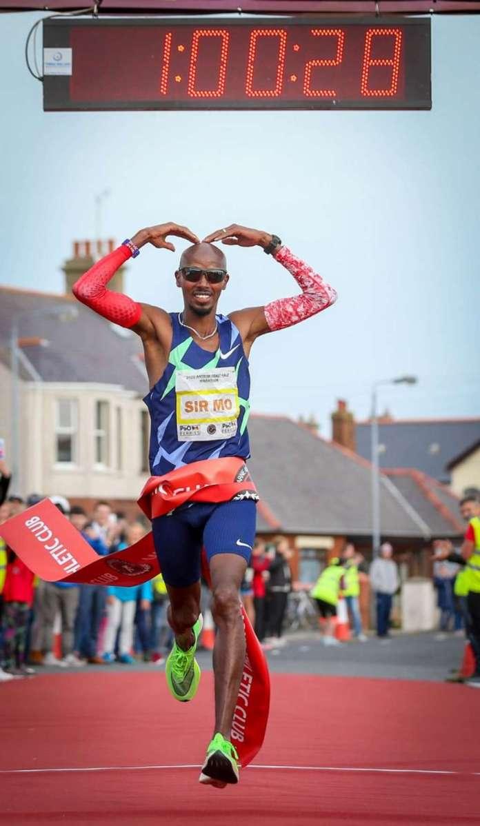 Mohamed Farah Claims Antrim Coast Half Marathon Win