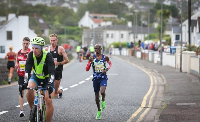 Mohamed Farah In Action At The Antrim Coast Half Marathon