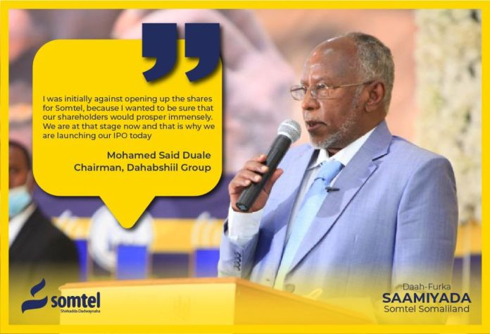 Somtel Somaliland Offers Its Shares To The Public