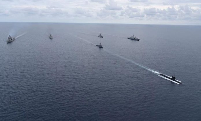 Indian Navy Holds Exercises In The Red Sea