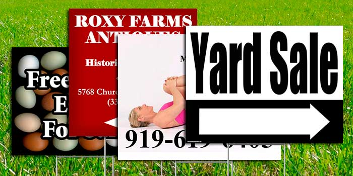 Corroplast Yard Signs