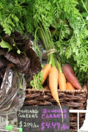Colorful winter carrots--from Sunset Farms, Peaceful River Farm, or Bushy Tail Farm.