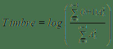Timbre equation