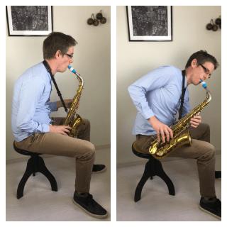 mauvaise posture au saxophone