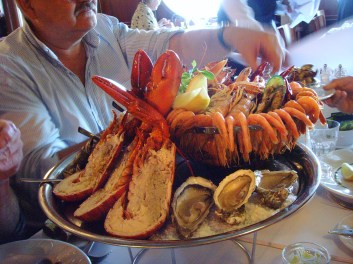 Happy Lobster's infamous seafood platter
