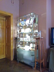 the first room where you watch a short video of Art Nouveau in Riga