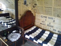 one of the model houses with what a typical Jewish home looked like back then