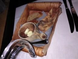 rye bread, potato bread (potato rieska) and some herb+juniper berry butter.