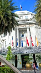 the infamous Fullerton Hotel was prepared for our visit: look at the Finnish flag! :D