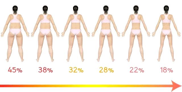 体脂肪が落ちると、見た目がこんなに変わります!