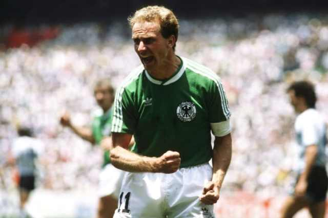 Karl-Heinz Rummenigge looking typically angry