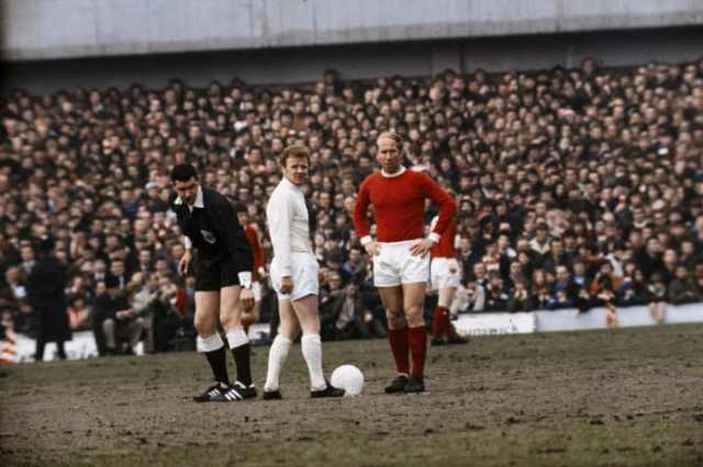 Charlton on a muddy old pitch