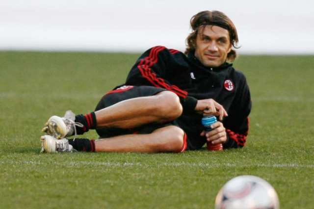 Paolo Maldini chilling out, catching some rays