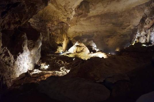 Picture inside the cave