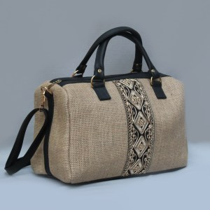 Shoulder and Hand Bag Canvas fabric with Indian embroidery