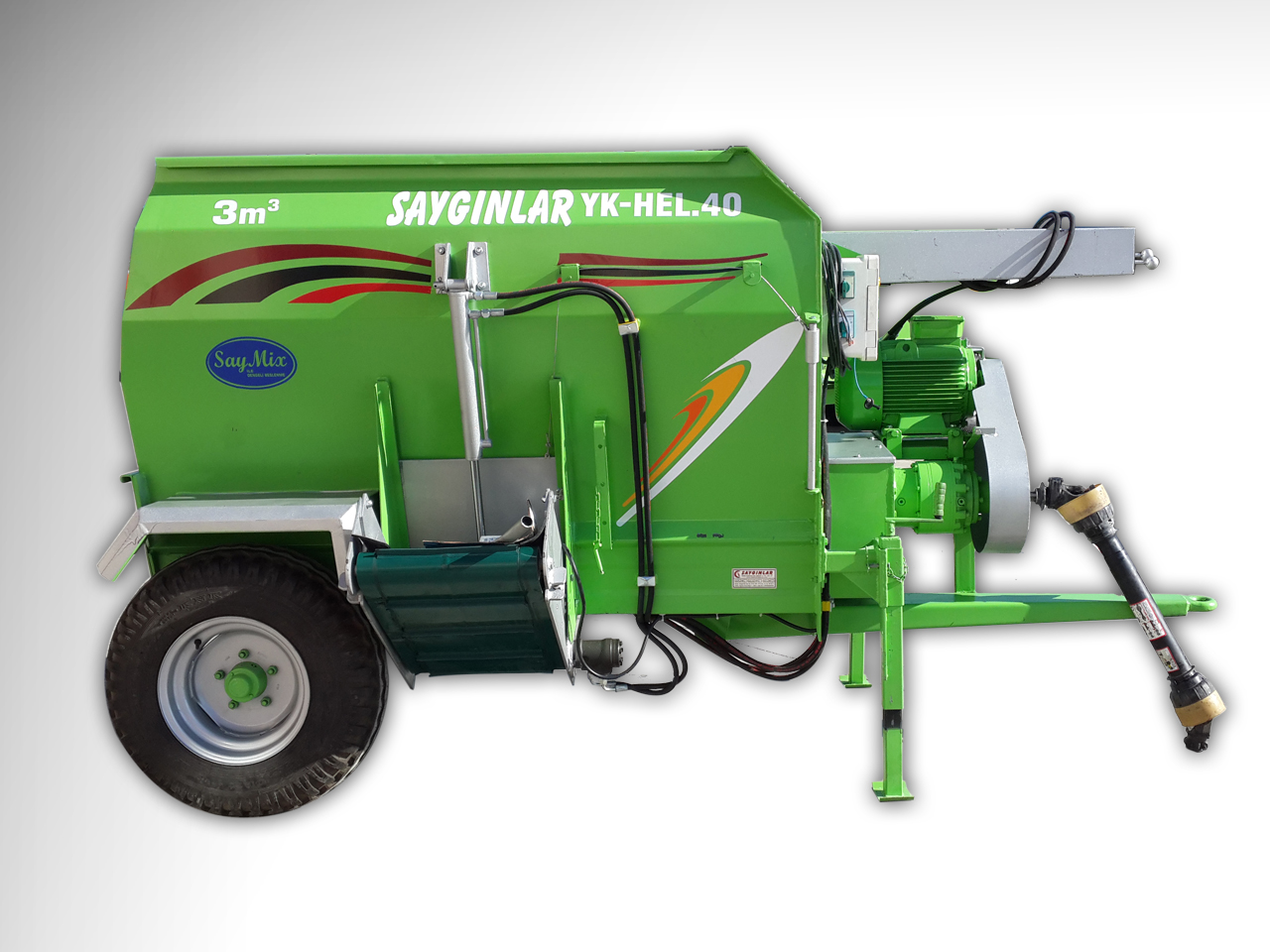 Horizantal Feed Mixer 3m3 Models of Electric and Tractor Pto Powered