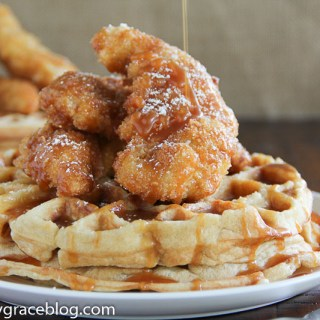 Salted Caramel Chicken & Waffles