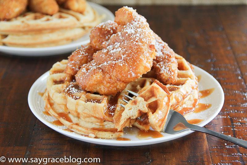 Salted Caramel Chicken & Waffles