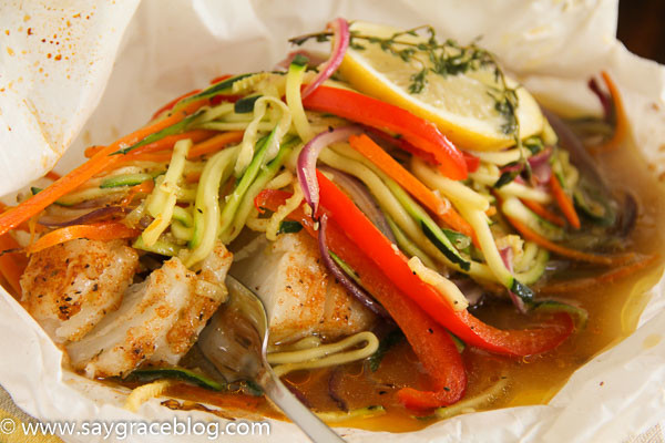 Chilean Sea Bass en Papillote