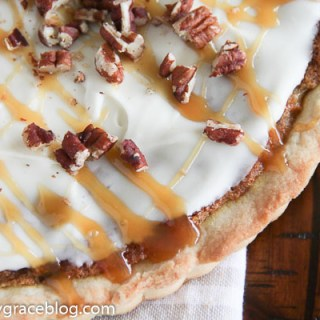 Carrot Cake Tart with a Cream Cheese Glaze