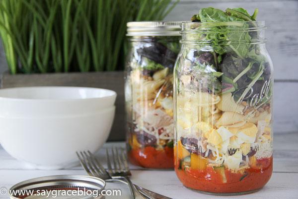 Sun-Dried Tomato Salad In A Jar
