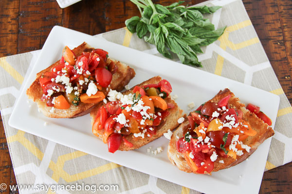 Heirloom Tomato Bruschetta