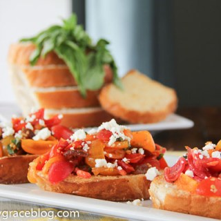 Easy Heirloom Tomato Bruschetta
