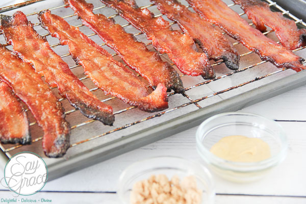 Oven Roasted Brown Sugared Bacon