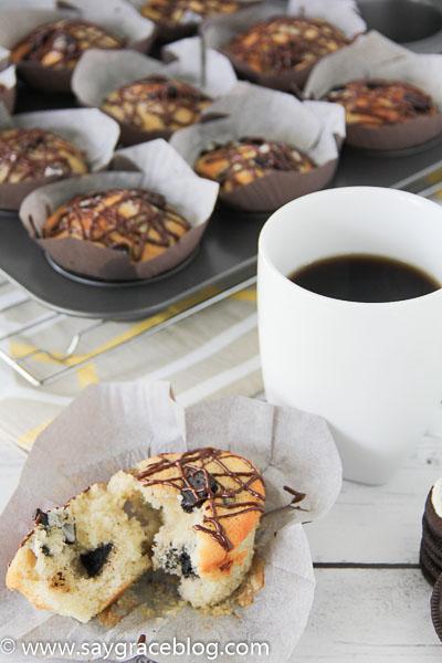 Simple Oreo Muffins