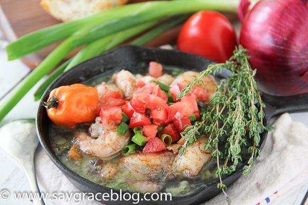 Skillet Simmered Jerk Shrimp {Bahama Breeze Copycat}