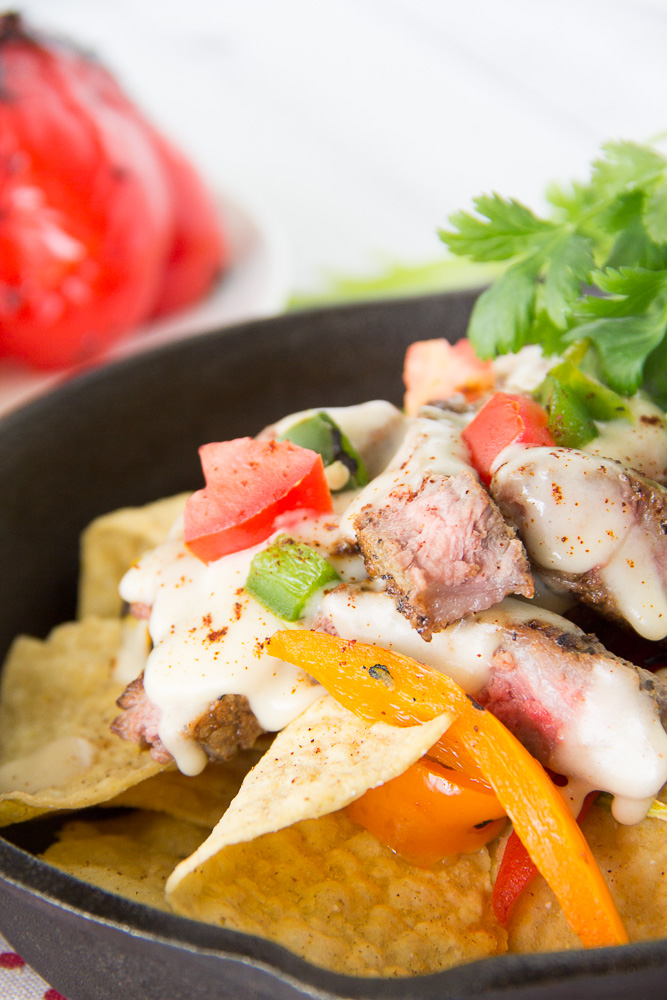 Grilled Steak Fajita Nachos