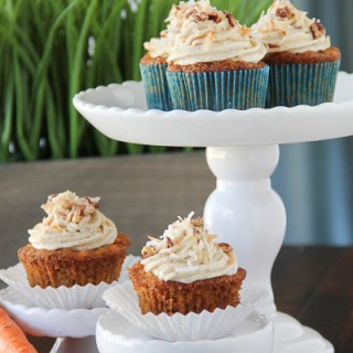 Tropical Carrot Cupcakes