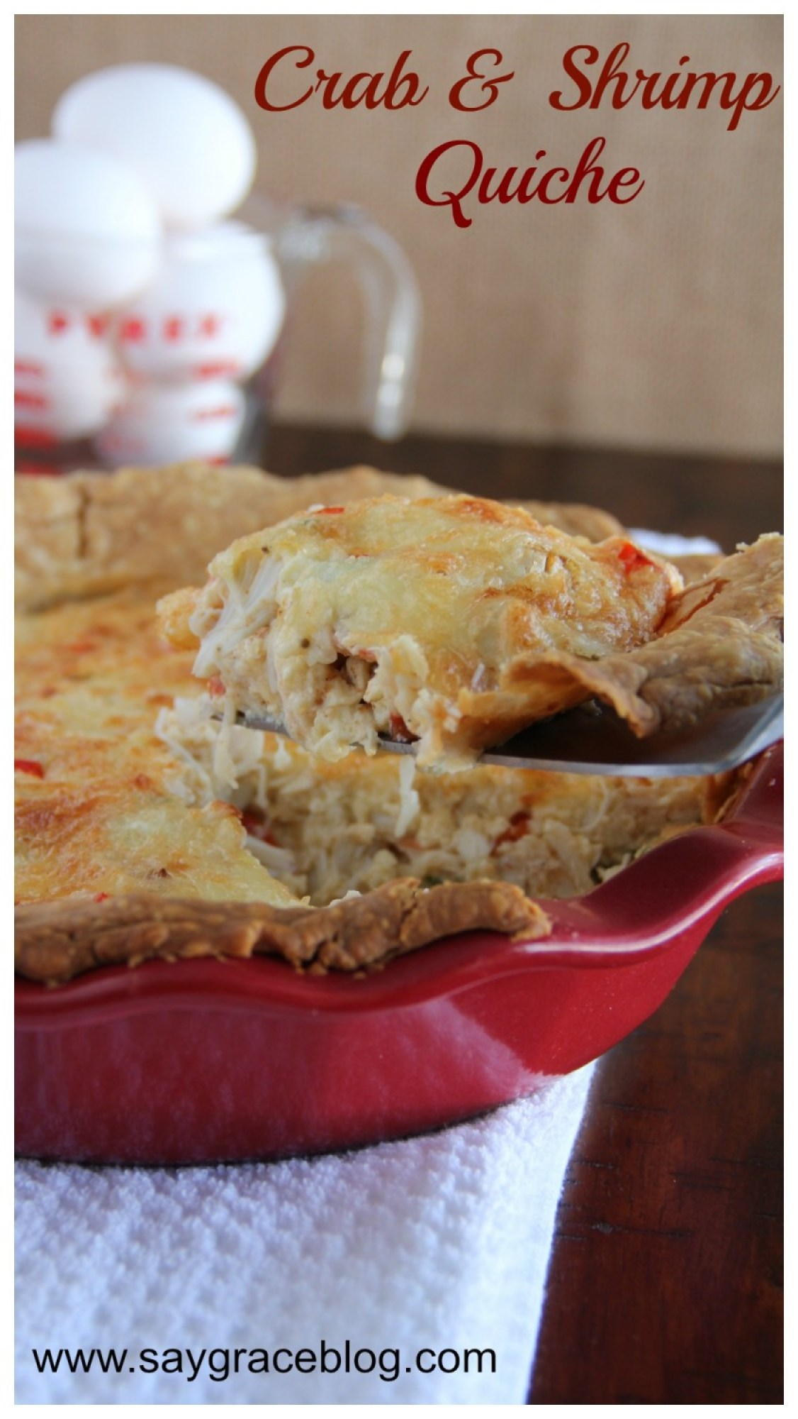 Crab & Shrimp Quiche