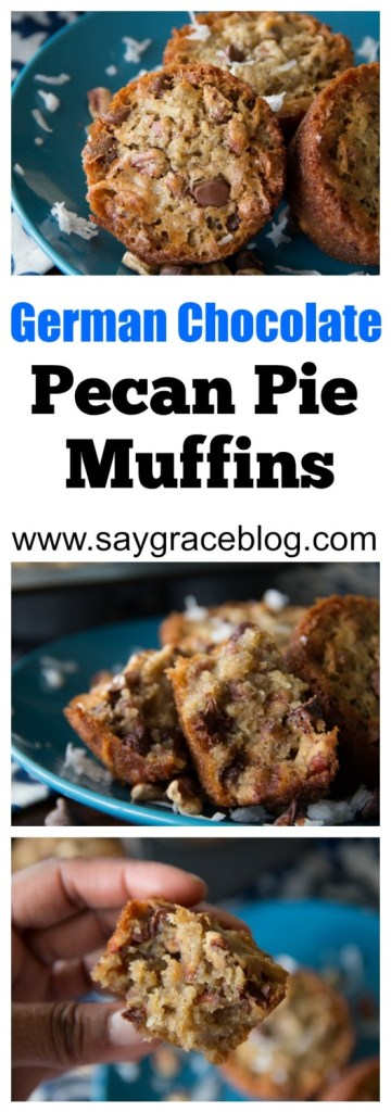 German Chocolate Pecan Pie Muffins