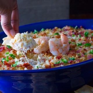 Shrimp Jalapeno Popper Dip